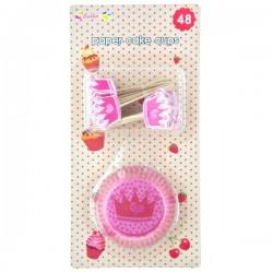 Cake Cups med Cake Picks - Krona