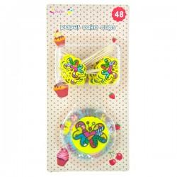 Cake Cups med Cake Picks - Multicolor Fjäril